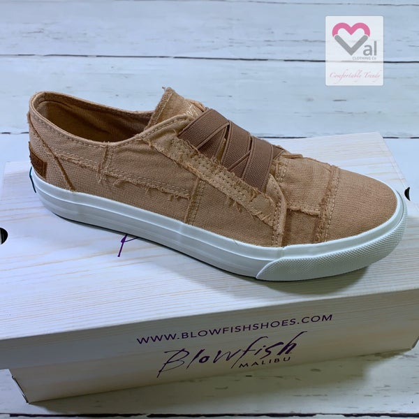 Blowfish Low Top Toasted Peach Canvas Sneaker