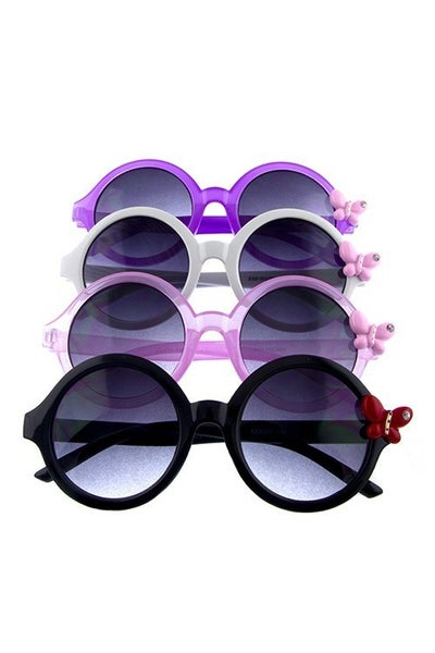 Kids Round Sunglasses with Butterfly Detail