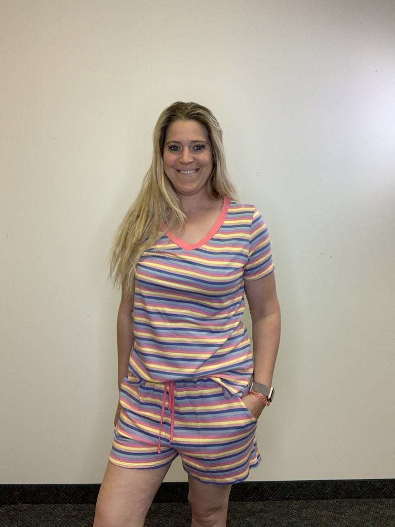 Lounge Shorts in Stripe Print