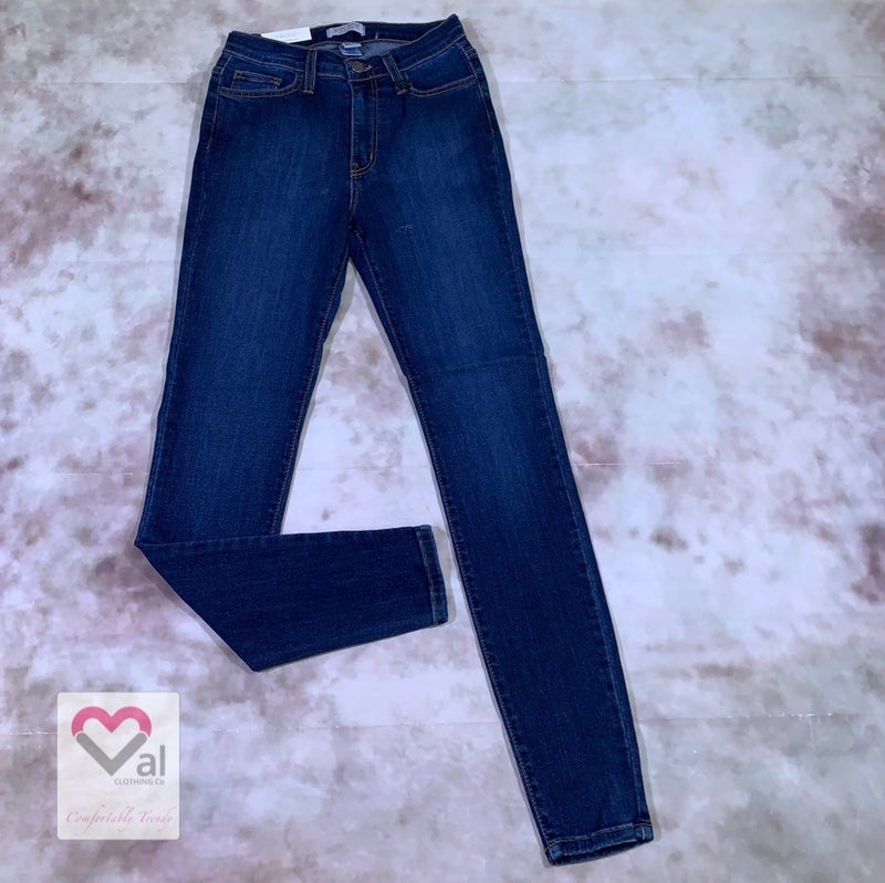Judy Blue High Waisted Stone and Handsand Skinny Jean
