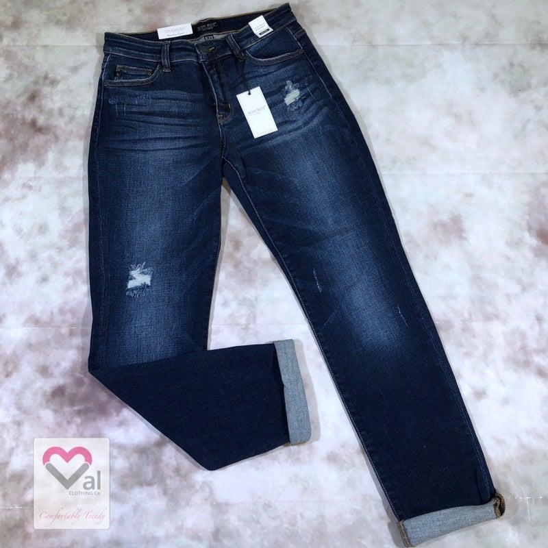 Judy Blue Dark Wash Tapered Slim Fit Jeans