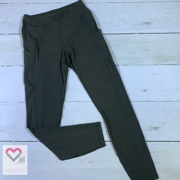 Solid Olive Pocket Leggings