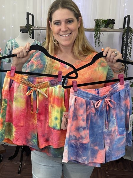 Lounge Shorts in Tie Dye Print