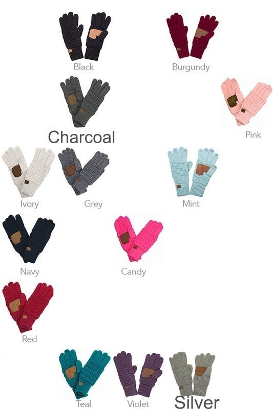 CC Solid Knit Touch Screen Gloves