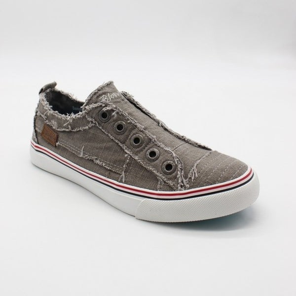 Blowfish Low Top Steel Grey Color Washed Sneakers