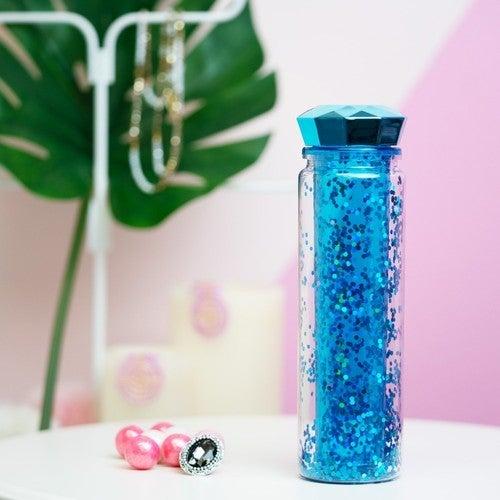24oz Diamond Lid Glitter Water Bottle