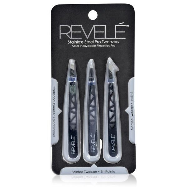 Revele 3 Piece Tweezer Set
