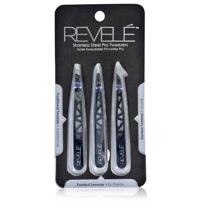 Revele 3 Piece Tweezer Set