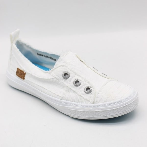 Blowfish Aussie Smoked White Canvas Slip On Shoe