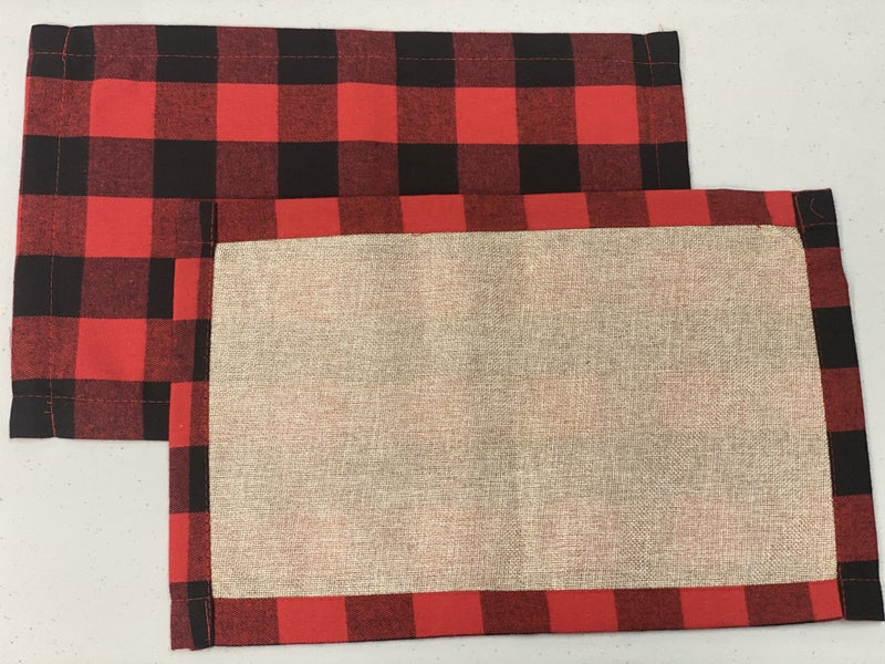 Plaid & Burlap Placemat Sets