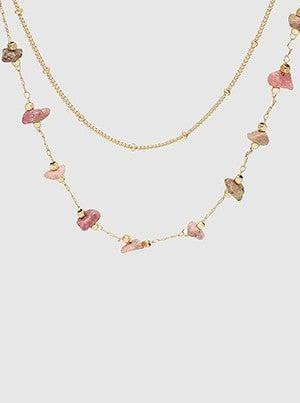 Semiprecious Stone Layered Choker Necklace