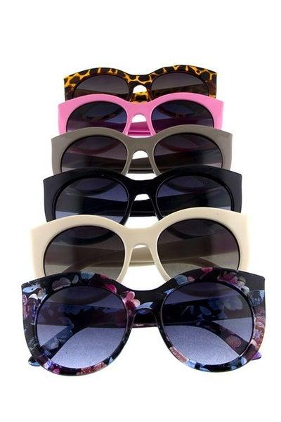 Kids Pointed Full Rim Sunglasses