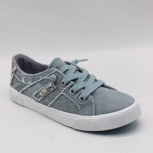 Blowfish Fruit Low Top Dusty Blue Smoked Canvas Lace Sneakers