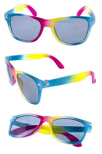 Kids Square Rainbow Print Sunglasses