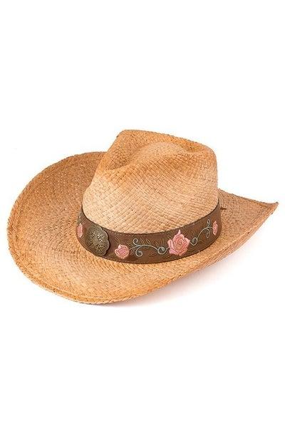 CC Rose Embellished Cowboy Hat