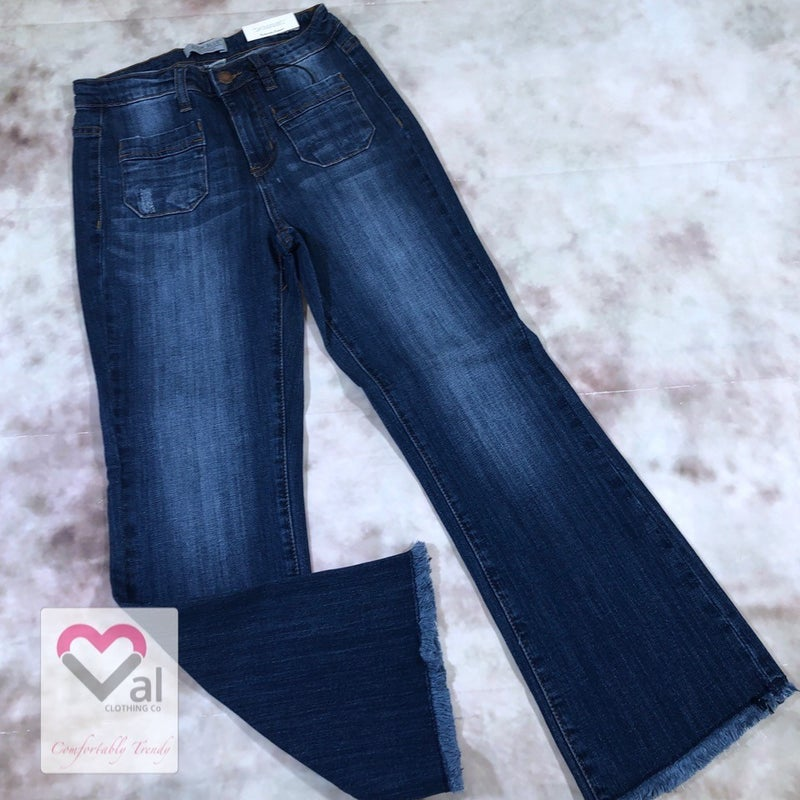 Judy Blue Cropped Boot Ankle Fray Jeans