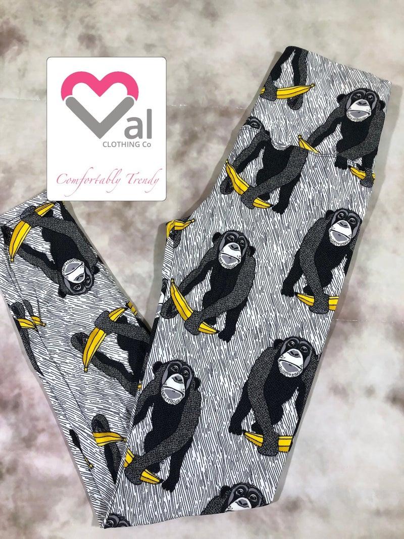 Monkey with Banana Leggings