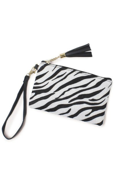 Animal Print Pouch Bag Wristlet