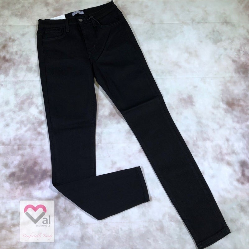 Judy Blue High Waisted Solid Black Jeans