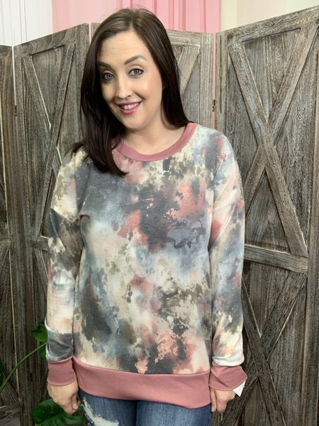 Long Sleeve Fall SPARKLE Tie Dye Weekender