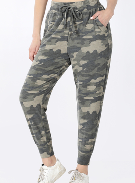 Full Length Camo Jogger Sweatpants