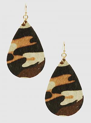 Leatherette Teardrop Dangle Drop Earrings