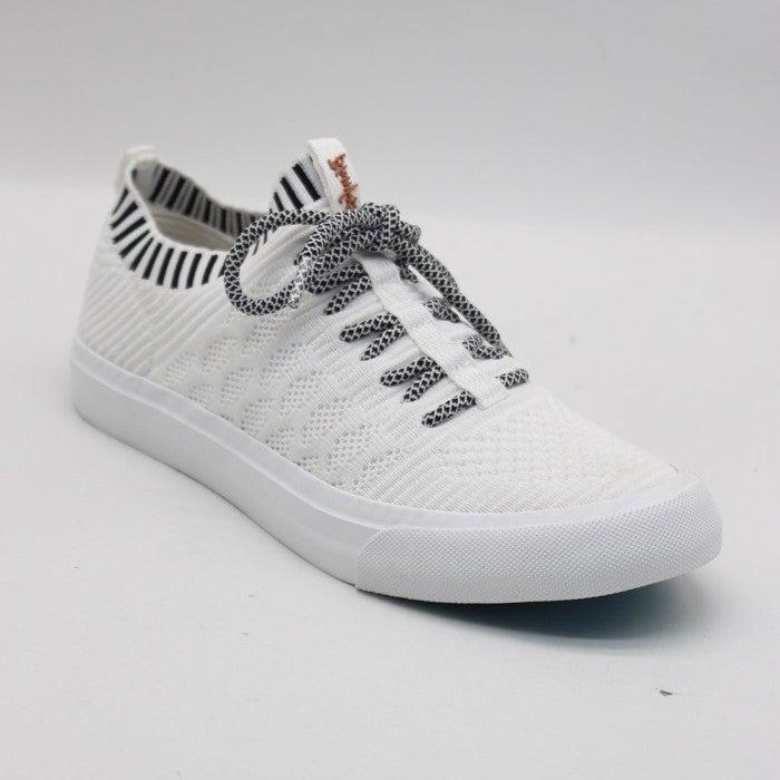 Blowfish Mazaki Off White Knit Tennis Shoes