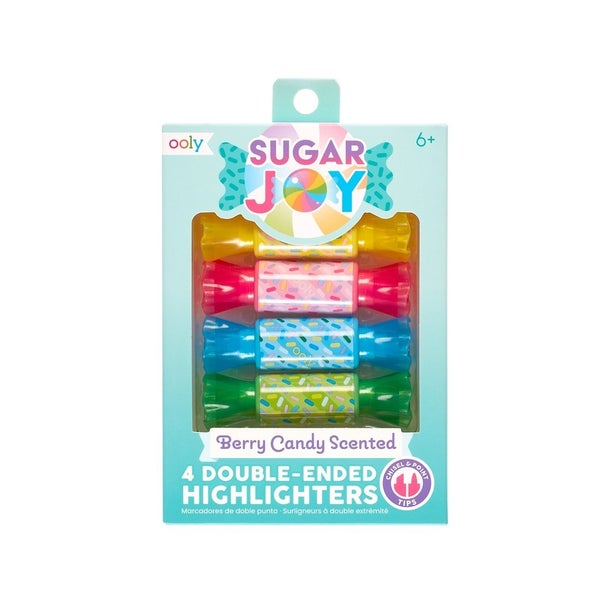 Sugar Joy Scented Double-Ended Highlighters (Set of 4)