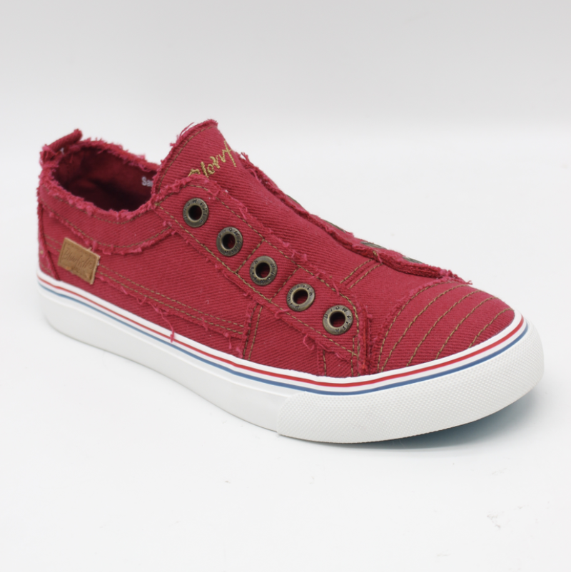 Blowfish Play Jester Red Twill  Low Top Canvas Sneakers