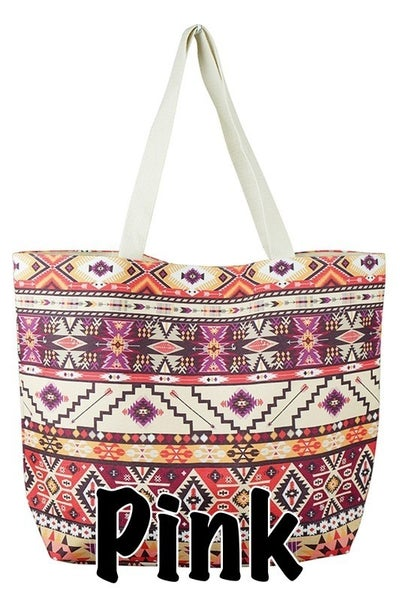 Canvas Patterned Tote Bag