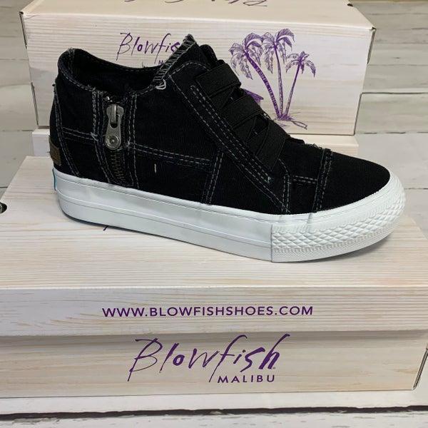 Blowfish Mid-Top Canvas Sneaker in Black