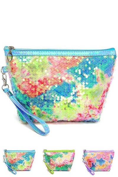 Multi Sequin Pouch Bag