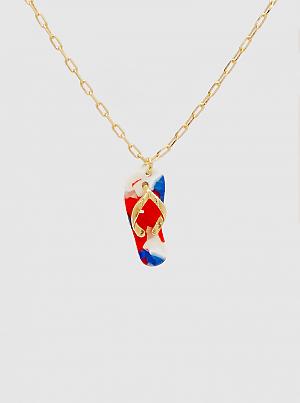Acetate Flip Flops Pendant Necklace