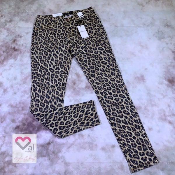 Judy Blue Leopard Print Skinny Jeans