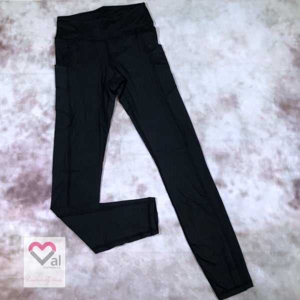 Solid Black Pocket Leggings