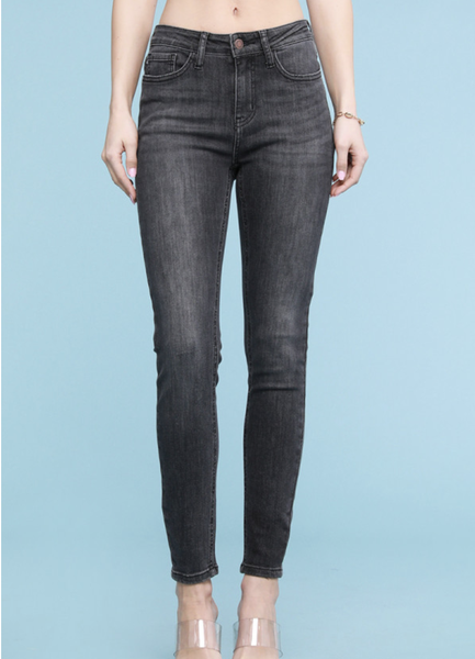 Judy Blue High Rise Grey Handsand Skinny Jeans