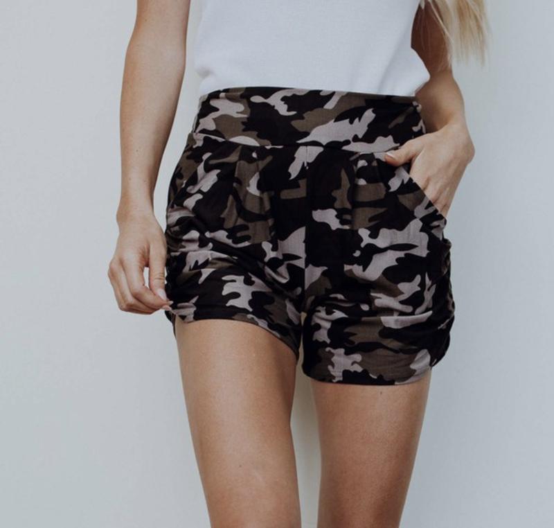Leggings Material Camo Harem Shorts