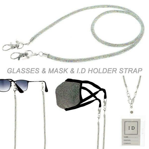 Rhinestone Lanyard for Glasses,ID Strap, etc
