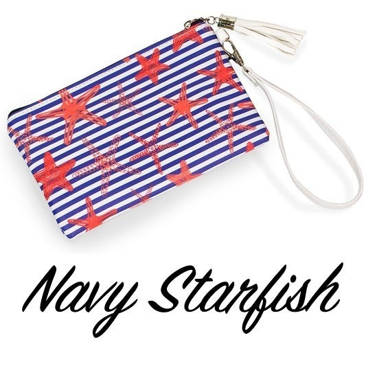 8x5in Printed Clutch Wristlet Bag