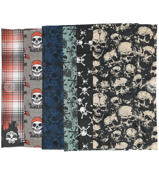 Assorted Skull Design Versatile Neck Gaiter/Helmet Liner/Face Covering