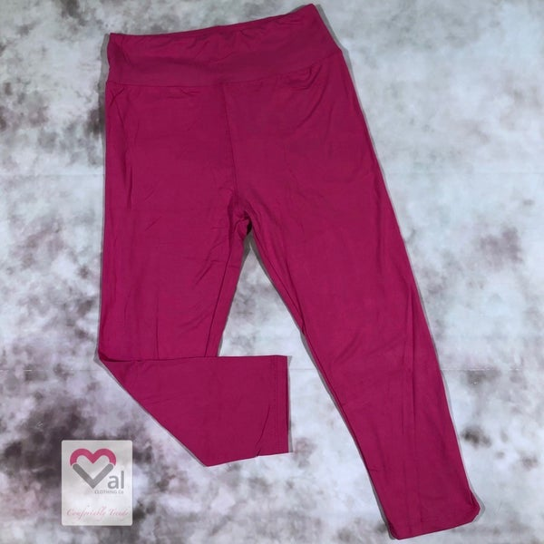 Solid Fuchsia Capri Leggings