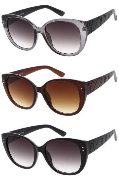 Side Etched Fashion Sunglasses