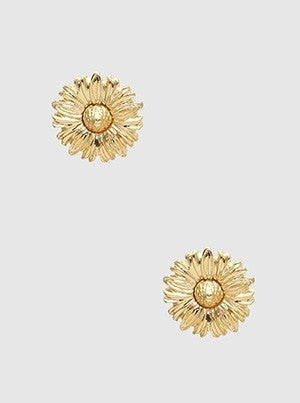 Metal Flower Daily Post Stud Earrings