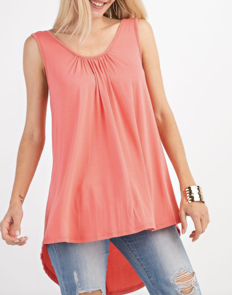 Sleeveless Solid Strappy Back Tank Top