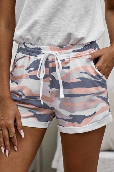 Camo Printed Casual Shorts