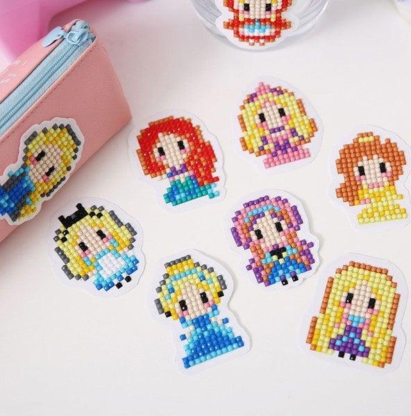 Princess Diamond Painting Sticker Kit for Kids