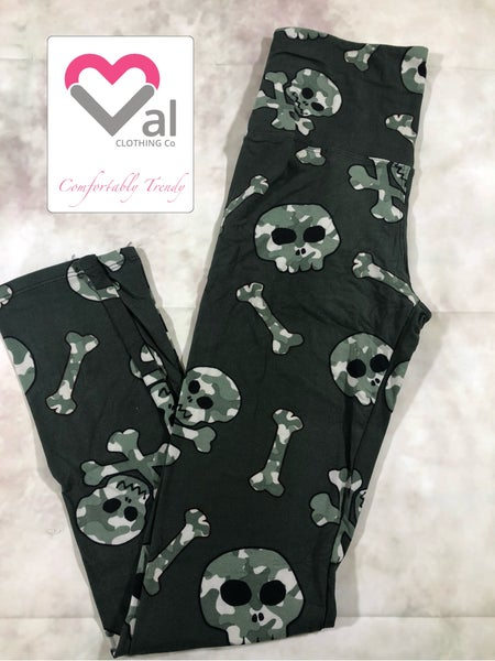 Camo Skull Leggings