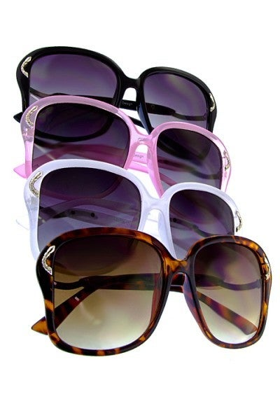 Butterfly Fashion Sunglasses with Metal Detail