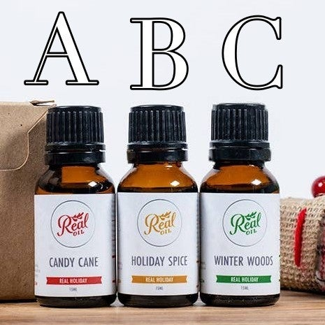 Real Oil Holiday Cheer 15mL Essential Oil Singles