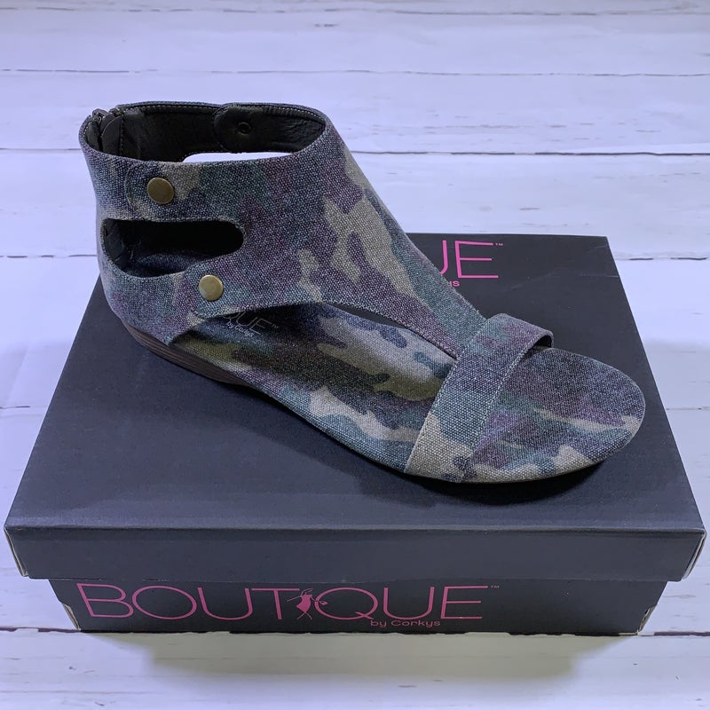 Corkys Ohana Cut Out Sandal in Camo